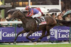 Hurricane Run mit Kieron Fallon gewinnt den Prix de'l Arc de Triomphe Lucien Barriere auf der Galopprennbahn Longchamp. www.galoppfoto.de - Frank Sorge