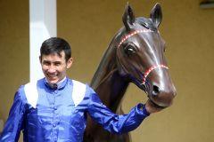Jockey Bauyrzhan Murzabayev im Portrait 2020 in Iffezheim. www.galoppfoto.de - Frank Sorge