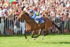 Tiger Hill mit Andreas Suborics gewinnt den 126. Grosser Preis von Baden. www.galoppfoto.de - Frank Sorge
